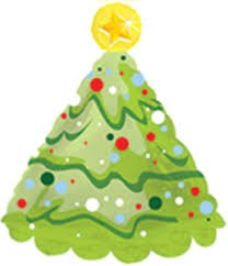 Weihnachten Tannenbaum Folienballon - 45 cm