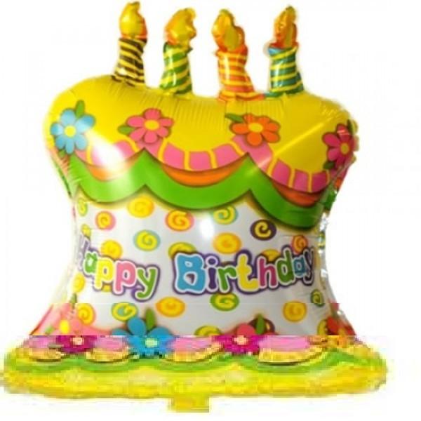 Geburtstagstorte Folienballon - 72cm