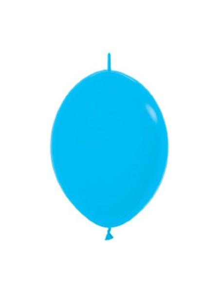 "Link o Loon 040 Fashion Blue (Blau) 15cm 6"" Latex Luftballons Sempertex"