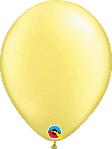 "Qualatex Pearl Lemon Chiffon (Gelb) 27,5cm 11"" Latex Luftballons"