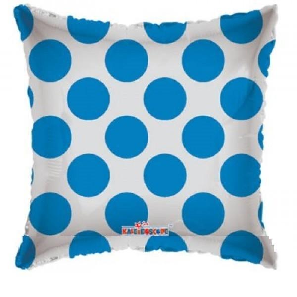 durchsichtiger Folienballon mit blauen Punkten - 45cm