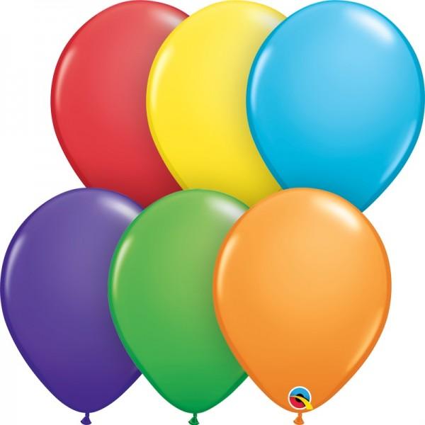 "Qualatex Assortment Bright Rainbow (bunt gemischt) Regenbogen 27,5cm 11"" Latex Luftballons"