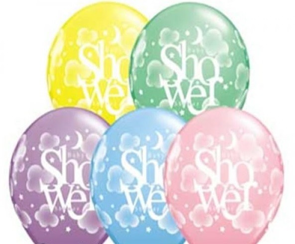 "Baby Shower 27,5cm 11"" Latex Luftballons Qualatex"