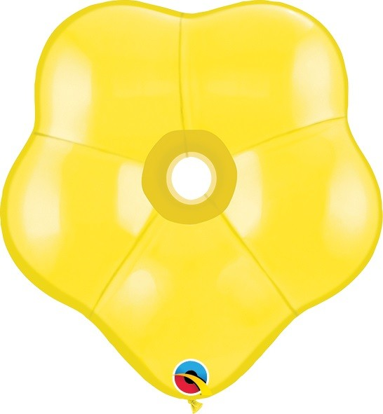 "GEO Blossom Standard Yellow Gelb 15cm 6"" Qualatex Luftballons"