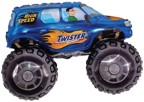 Monster Truck Blau Twister Folienballon - 96 x 68cm