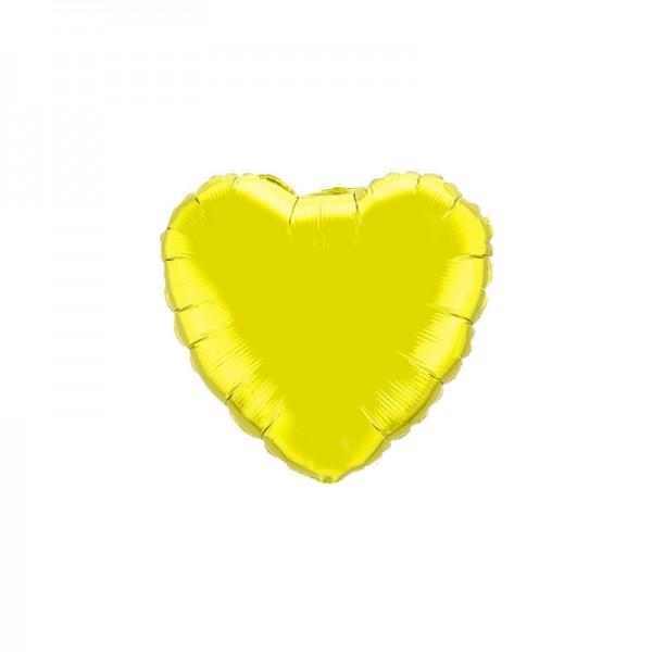 Folienballon Herz Gelb - 45cm
