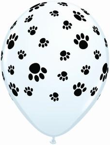 """Pfoten Tatze 27,5cm 11"""" Latex Luftballons Qualatex"""
