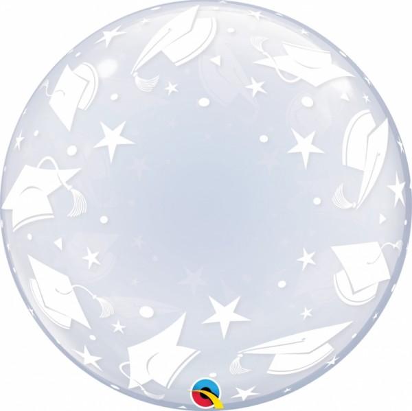 "Qualatex Deco Bubble Graduation Caps 24"" 61cm Luftballon"