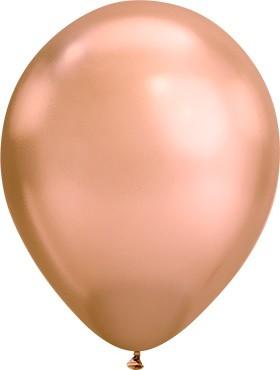 Latex Luftballons Chrome Rose Gold 100St - 27,5 cm