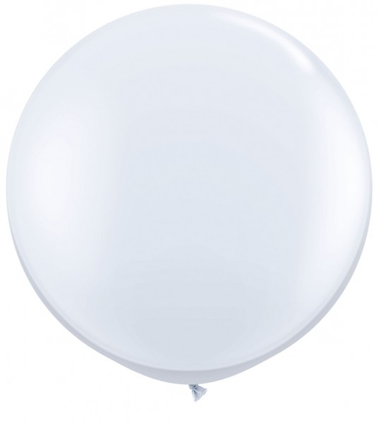 "Qualatex Standard White Weiß 90cm 36"" Latex Riesenluftballons"