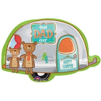 Camping Best Dad Folienballon