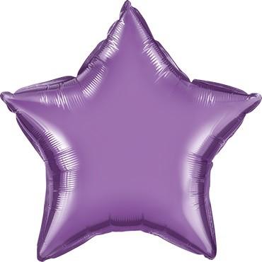 Folienballon Stern Chrome Purple (Lila) - 50 cm