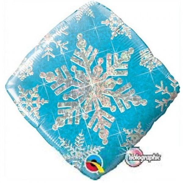 Snowflakes Sparkles Blue Schneeflocken Folienballon - 45cm