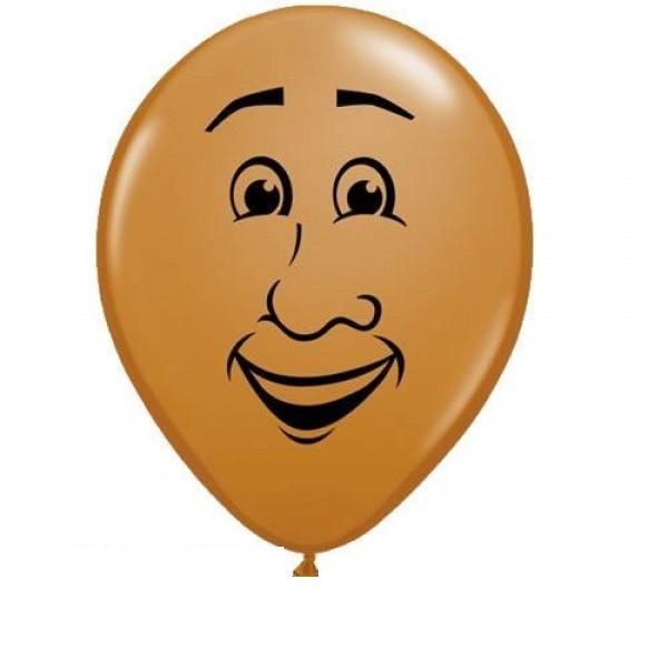 Qualatex Gesicht Mann dunkel - 12,5cm