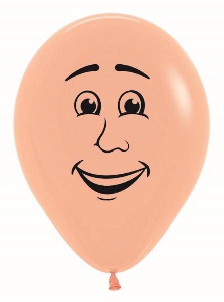 """Gesicht Mann Face Man 060 Fashion Blush 30cm 12"""" Latex Luftballons Sempertex"""
