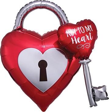 Key to my Heart Folienballon