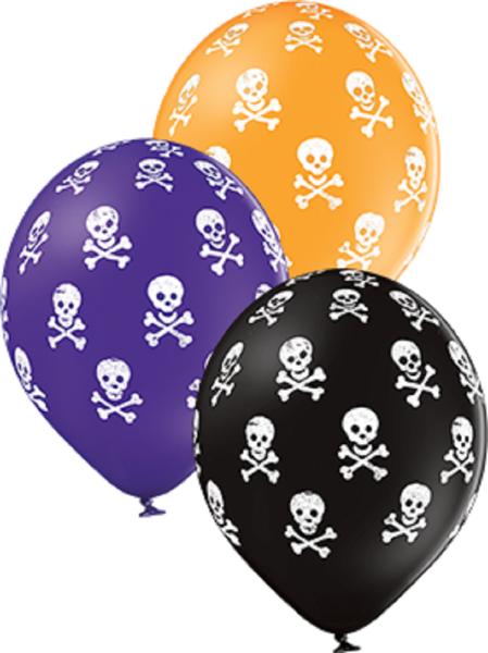 """Skulls Pastel Sortiment 30cm 12"""" Latex Luftballons Belbal"""