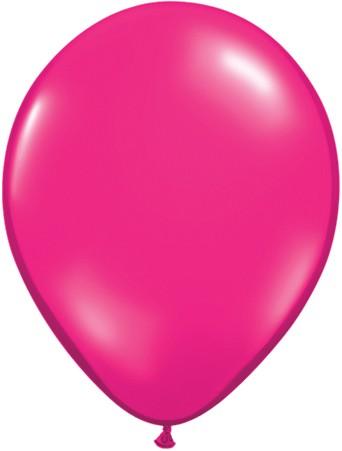 "Qualatex Jewel Magenta 27,5cm 11"" Latex Luftballons"