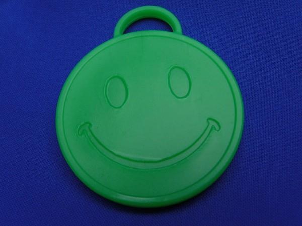 Luftballon Gewicht Smiley rund in grün