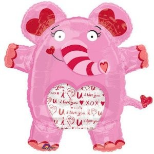 I Love you- Ich liebe Dich- Elefant Folienballon - 69x71cm