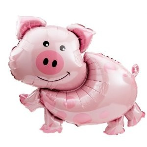 Schwein Folienballon - 89cm