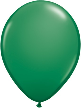 "Qualatex Standard Green (Grün) 27,5cm 11"" Latex Luftballons"