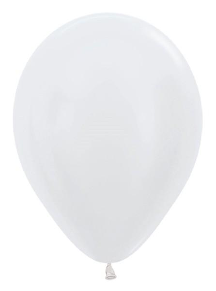"Sempertex 405 Satin Pearl White 30cm 12"" Latex Luftballons"