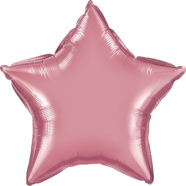 Folienballon Stern Chrome Mauve (Hell Lila) - 50 cm