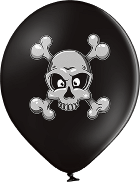 "Skull und Crossbones 30cm 12"" Latex Luftballons Belbal"