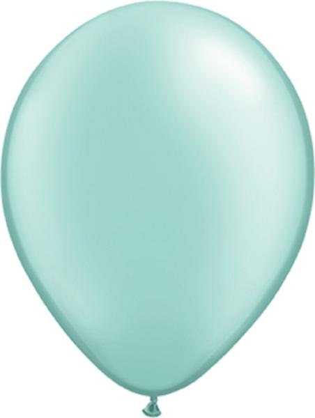 """Qualatex Pearl Mint Green (Grün) 40cm 16"""" Latex Luftballons"""
