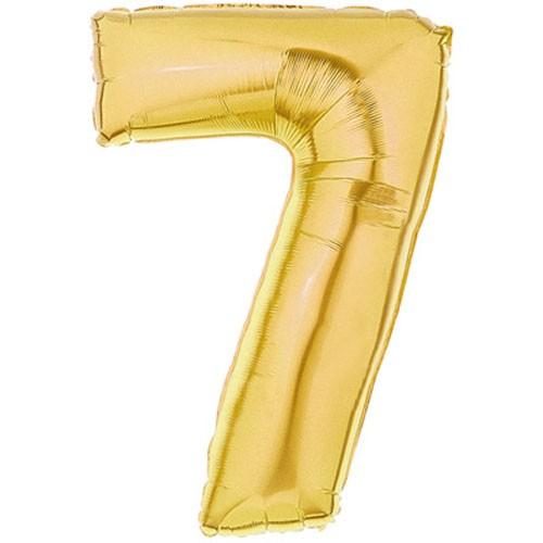 Große Folienballon Zahl 7 (gold) - 101cm
