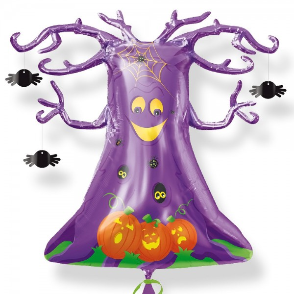 Folienballon Spooky Tree Shape - 84 cm