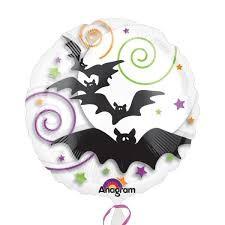 Spooky Bats Swirls Folienballon - 45cm