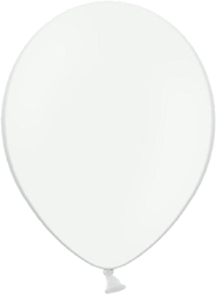 "Belbal 002 Pastel White Weiß 12,5cm 5"" Latex Luftballons"