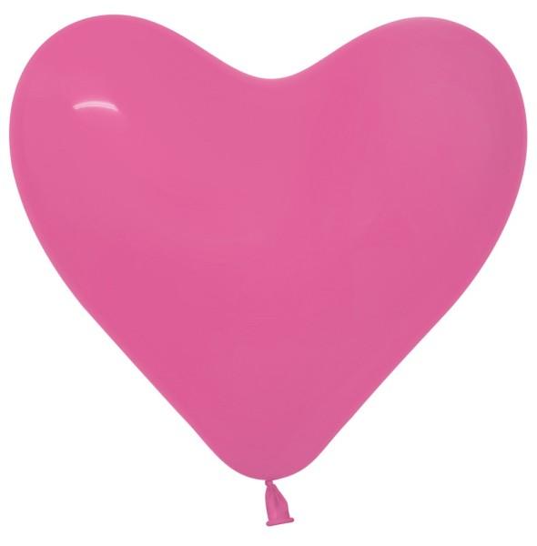 "Sempertex Herz 012 Fashion Fuchsia 40cm 16"" Latex Luftballons"