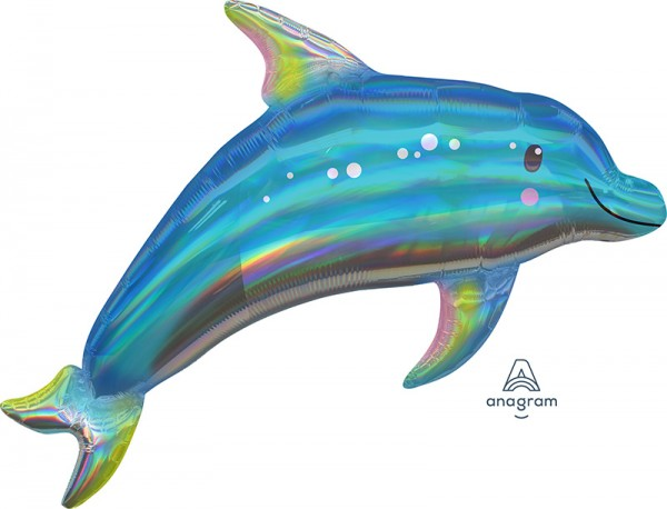 Folienballon Delfin Holographic