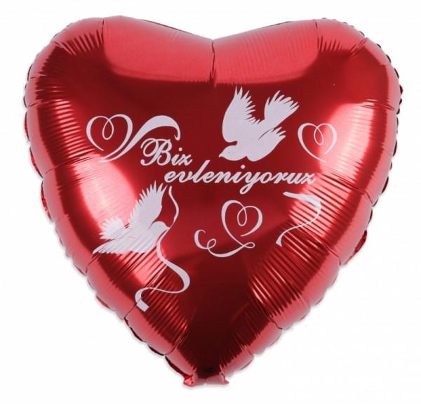 türkischer Hochzeitsballon Herz - 45cm