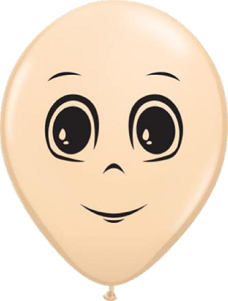 "Face Masculine Fashion Blush 40cm 16"" Latex Luftballons Qualatex"