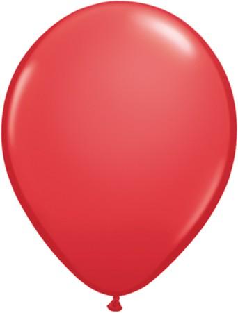 "Qualatex Standard Red (Rot) 27,5cm 11"" Latex Luftballons"