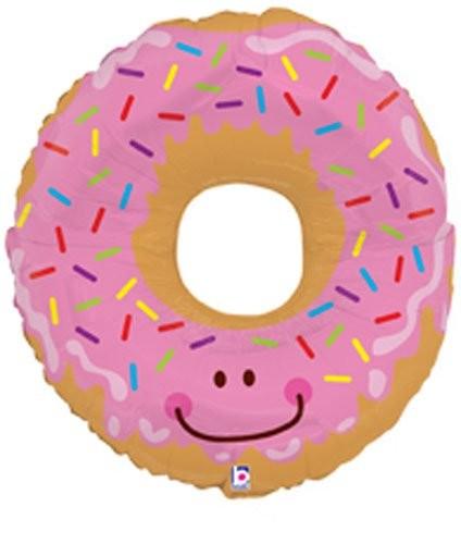 rosa Donut mit Streusel und Zuckerguss - 71cm
