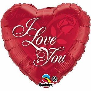 Mini Folienballon I Love you Herz mit Rose