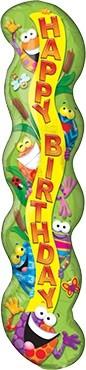 Frosch Happy Birthday Säule Folienballon - 101cm