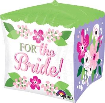 Hochzeit 'Für die Braut' For the bride Cubez Würfel- Folienballon