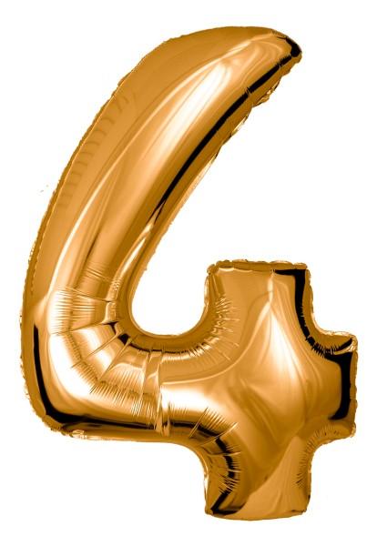 Große Folienballon Zahl 4 (gold)