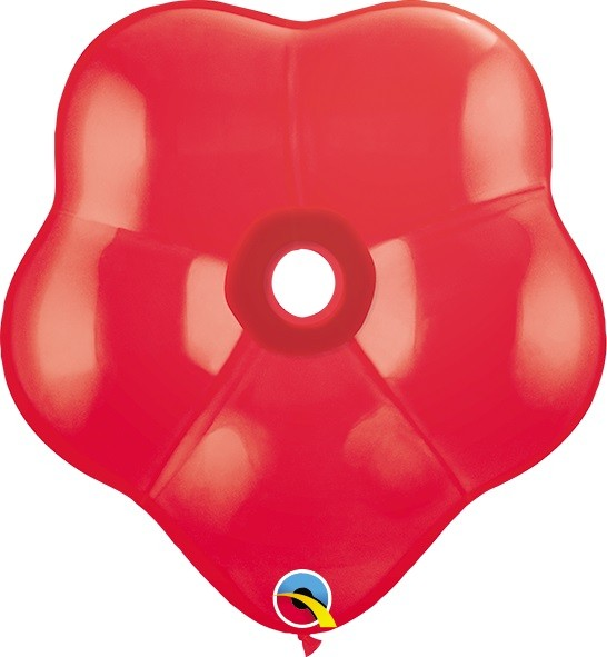 "GEO Blossom Standard Red Rot 15cm 6"" Qualatex Luftballons"
