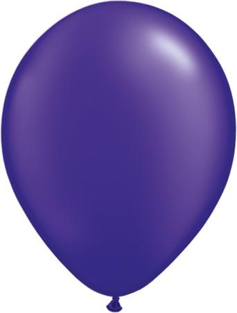 "Qualatex Pearl Quartz Purple (Lila) 27,5cm 11"" Latex Luftballons"