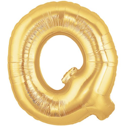Buchstaben Q gold Folienballon - 101cm