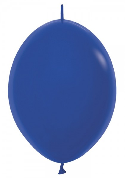 "Link o Loon 041 Fashion Royal Blue (Blau) 30cm 12"" Latex Luftballons Sempertex"