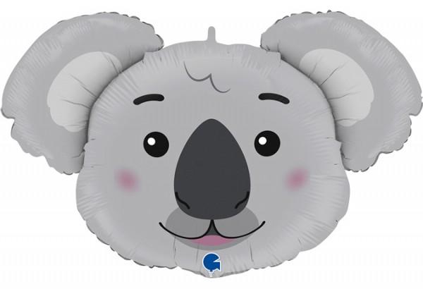 Koala Kopf Folienballon - 93 cm