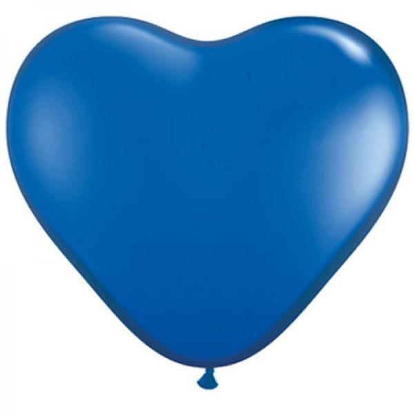 "Rifco Herz Blue Blau 27,5cm 11"" Latex Luftballons"